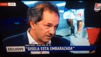Daniel Scioli: Gisela está embarazada; estamos esperando un bebé