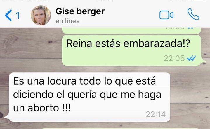 La respuesta de Gisela Berger al anuncio de Scioli sobre su embarazo: Él quería que aborte