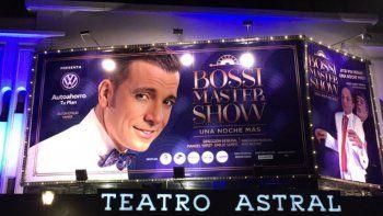 Martín Bossi brilla sobre el escenario con su nuevo espectáculo Bossi Master Show