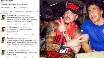 Gustavo Martínez furioso contra los hermanos de Fort: ¿Le llevaron flores alguna vez?
