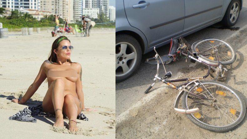 Otra que choca y huye: Sofia Clerici, en medio del escándalo Scioli, atropelló a un ciclista