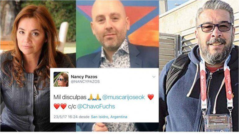 Escándalo: Nancy Pazos en medio de un ataque de gritos, abandonó un programa