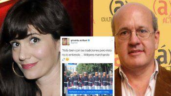 Poco elegante: Pablo Sirvén cruzó a Griselda Siciliani en twitter por el desfile militar