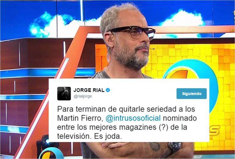 Premios Martín Fierro: la furia de Jorge Rial