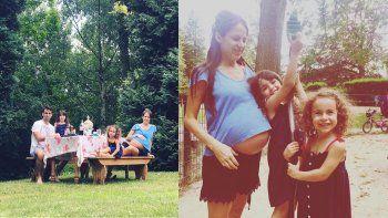 Agustina Lecouna vive en Bruselas y está a punto de dar a luz a su tercer hijo
