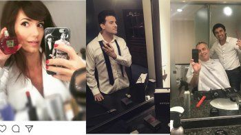 Los backs de fotos en Instagram: los famosos antes del Martín Fierro
