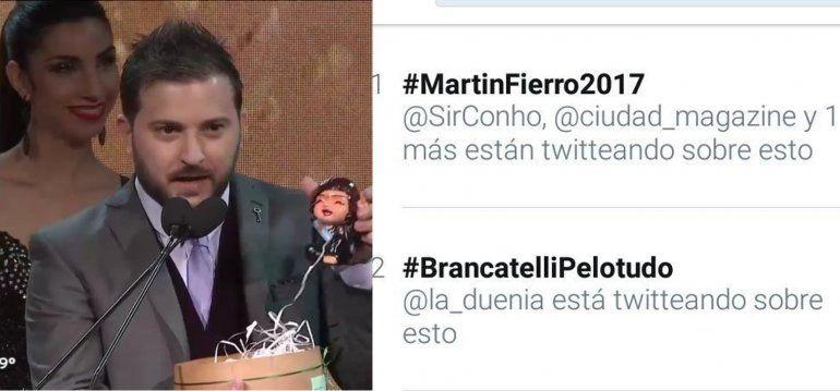 #Brancatelli Pelotudo fue el TT de la noche de los Martín Fierro: lo gastan