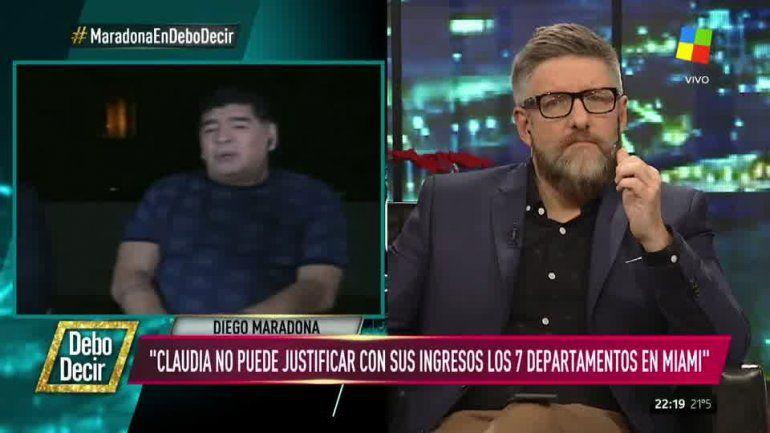 Diego Maradona habló de todo, y disparó contra Macri y Claudia Villafañe: Es una ladrona