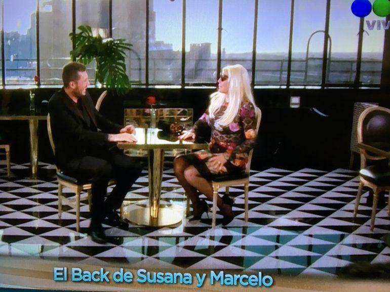 El back del aviso de Susana y Tinelli: todo lo que se dijeron detrás de cámara