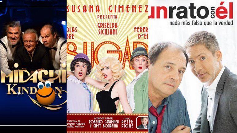 Midachi, Sugar y Suar en el podio de lo más visto del teatro
