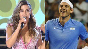 Jimena Barón presentó en la radio una canción dedicada a Del Potro: Él es muy sensible y llorón
