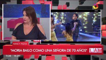 Nancy Pazos fue letal con la salsa de Moria: Bailó como una señora de 70 años