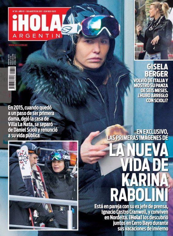 Las dos mujeres de Scioli en una misma tapa: la nueva vida de Rabolini y la panza de Berger, juntas