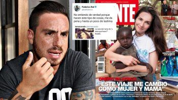 Fede Bal critica la tapa de Oreiro con un niño negro: Me da pena y un poco de lástima