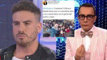 Polino se despachó contra Fede Bal por la crítica a Oreiro: Caradura!!
