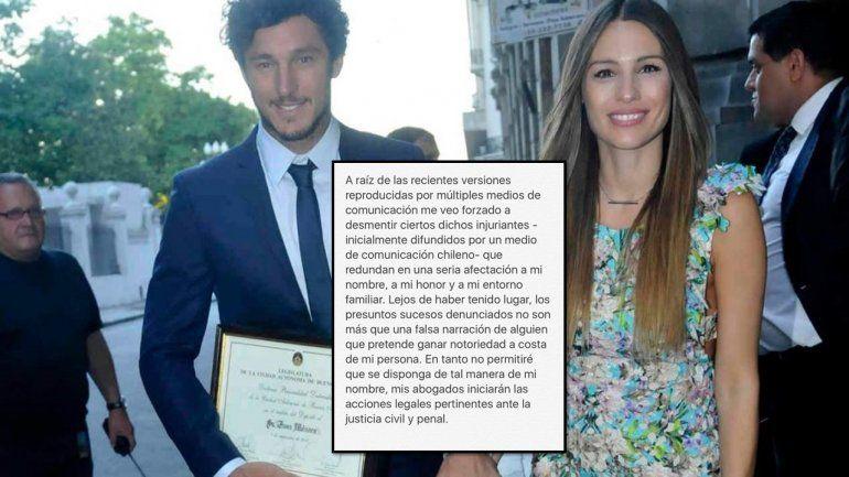 Pampita ayudó a Pico Mónaco a armar su comunicado y los medios chilenos se hicieron un festín