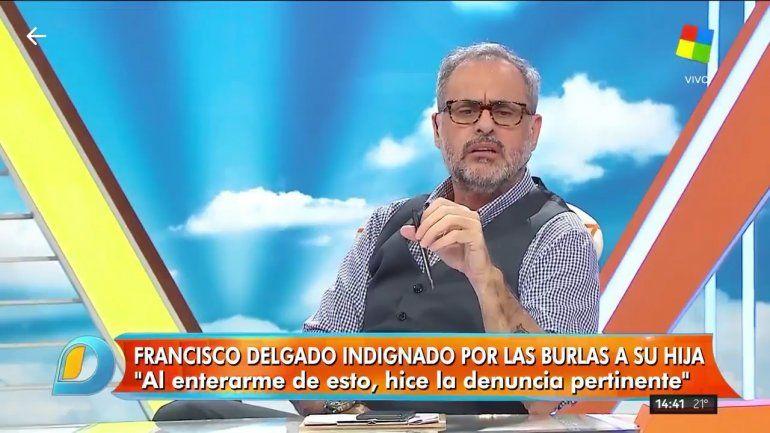 Rial le cortó el teléfono al agresor de la hija de Francisco Delgado: Sos un hijo de puta