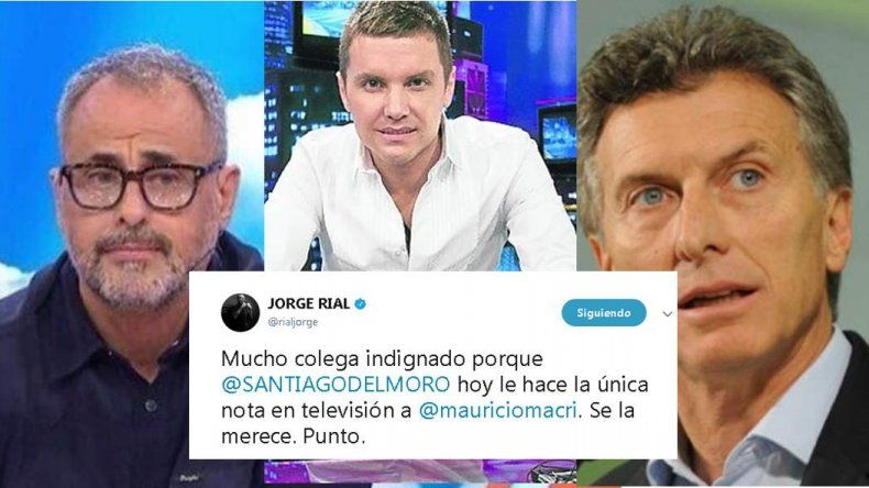Rial salió a defender a Del Moro frente a periodistas que lo critican por la nota a Macri