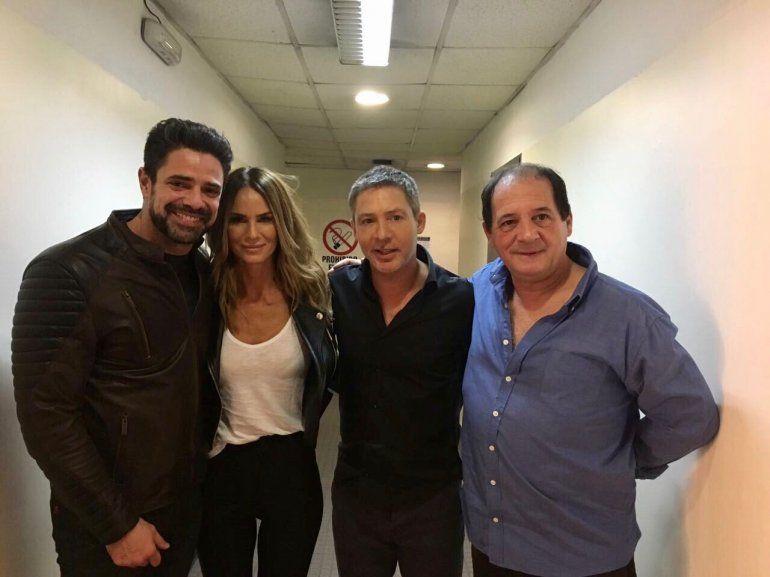 Luego de los polémicos audios, Luciano Castro fue a ver a Adrián Suar al teatro