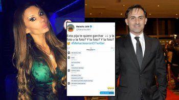 Natacha volvió a tuitear supuestos chats con Latorre: Esta p... te quiere garch...
