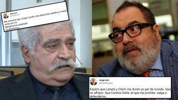 Jorge Asís contra Lanata: Abusa de la posición dominante con su palabra fecal