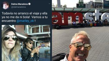 Dalma y Gianinna se van a grabar con Marley: vamos a tu encuentro con destino Amsterdam