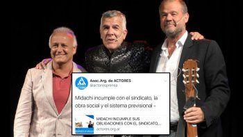 La Asociación Argentina de Actores acusa a los Midachi de no pagar la obra social