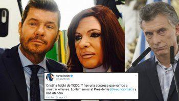 Tinelli grabó con Bossi/CFK un reportaje que participó Macri