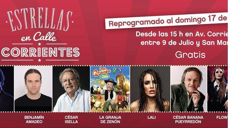 El 17 de septiembre llega Estrellas en la calle Corrientes, el evento cultural del año