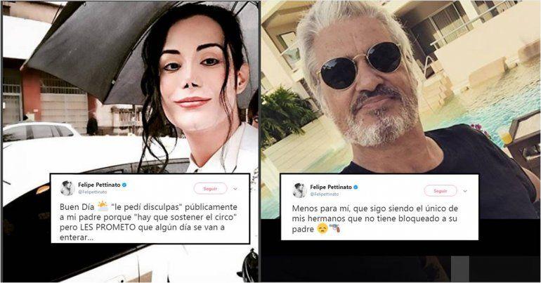 Felipe Pettinato otra vez contra su papá: Pedí disculpas para sostener el circo, pero algún día sabrán la verdad