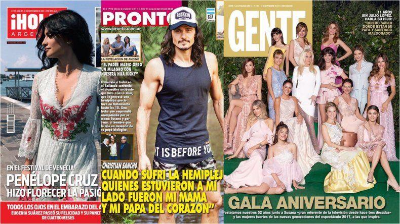 Gente con la tapa sin Mirtha, Pronto con Christian Sancho y su historia de vida, y en Hola Penélope Cruz