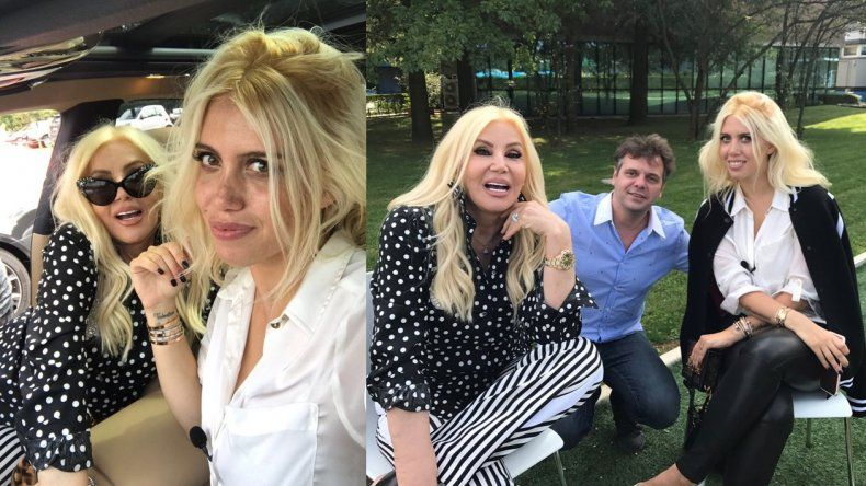 Susana ya está en Milán con Wanda Nara: las fotos del encuentro y el especial que preparan
