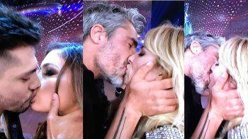 concurso de besos en bailando: chaparon tyago con rocio robles y paladini con guirao diaz