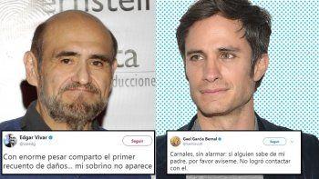 Gael García Bernal y el Señor Barriga buscan a familiares perdidos en el terremoto