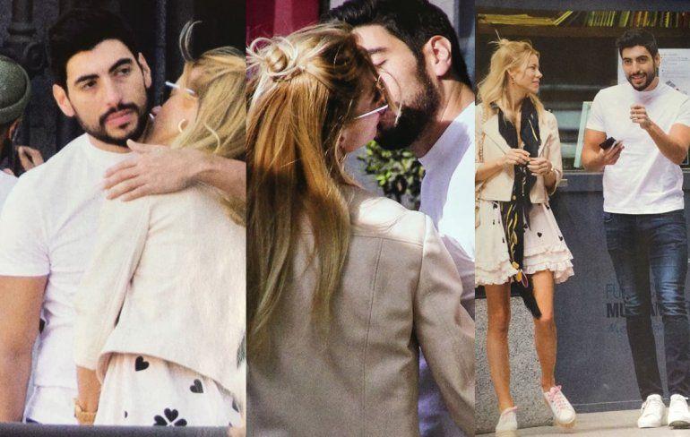 Las fotos de Nicole y Moyano a los besos por las calles de Madrid