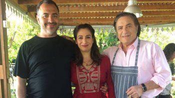 Muriel Santa Ana y Antonio Grimau graban los tramos finales de la serie de Sandro