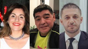 Explotó la guerra de las hijas de Maradona contra Morla: Que se calle la boca