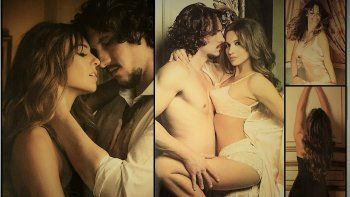 Las fotos eróticas de Pampita y el galán de su película