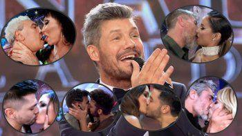 Hay que besarse: el fetiche de Tinelli 2017 es que las parejas se coman la boca en cámara