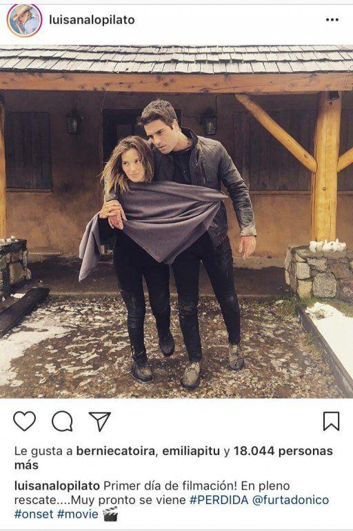 Luisana Lopilato y Nico Furtado con nuevo look, arrancaron a filmar Perdida
