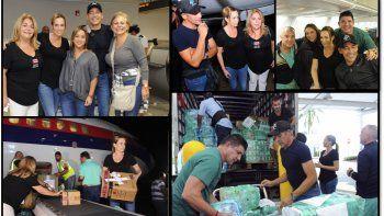 Natalia Denegri voló a Puerto Rico para colaborar con las víctimas del huracán y llevarlas a Miami