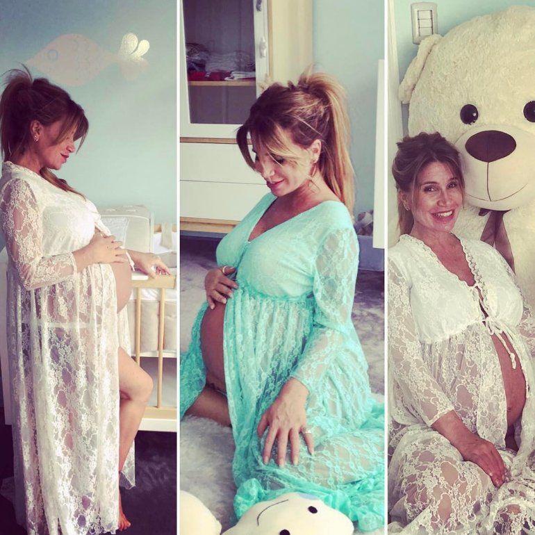 Flor Peña se convirtió en mamá a los 42 años por tercera vez