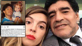 Maradona anunció el casamiento y Dalma y estalló la interna
