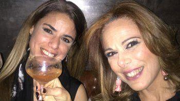 Iliana y Marina Calabró juntas en la noche porteña