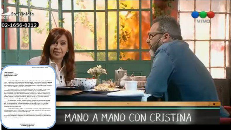El personal de Telefe cuenta la verdad sobre los aplausos a CFK en la entrevista con Rozín