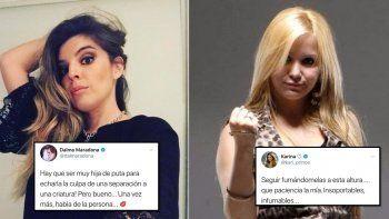 Guerra entre las Maradona y Karina: Hay que ser muy hija de pu..; Infumables