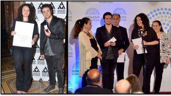 Pablo Codevilla premiado por 50 años de carrera: sus hijos recibieron medalla