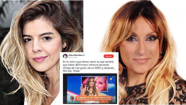 Se supo: el insulto de Dalma Maradona estaba dirigido a Marcela Tauro
