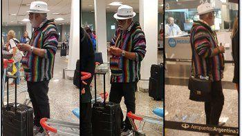 González Oro en medio de un escándalo en la fila de Migraciones de Ezeiza: ¿se quiso colar?