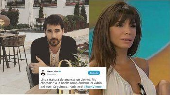 Nacho Viale y Laura Fidalgo se suman a la lista de los robos a famosos de los últimos días